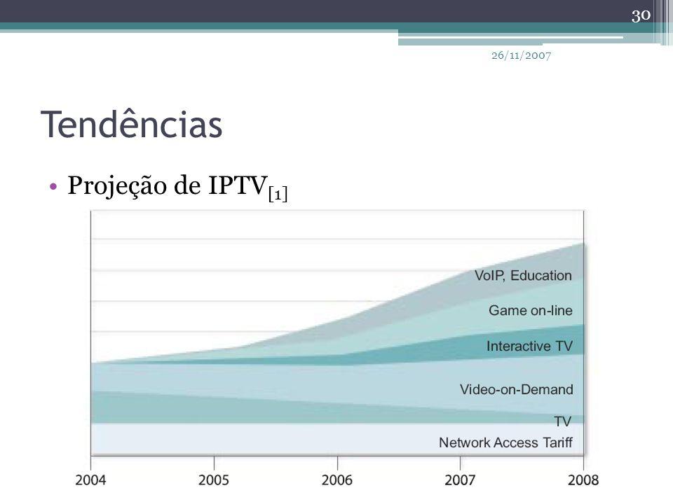26/11/2007 Tendências Projeção de IPTV[1]